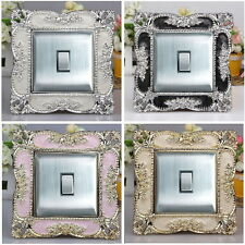 Square Acrylic Single Light Switch Surround Socket Finger Plate Panel Cover ZX