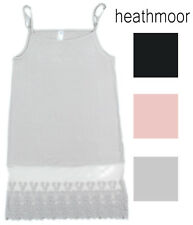 Heathmoor Womens Top Extender Lace Trim Bottom Camisole Extra Long Tank Top