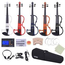 ammoon Full Size 4/4 Solid Wood Electric Violin Silent Fiddle Style-2 S1J6