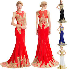 Long Formal Lace&Applique Evening Party Ball Gown Prom Bridesmaid Cocktail Dress
