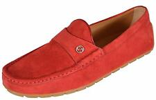 NEW Gucci Men's 386587 RED Suede Interlocking GG Logo Drivers Loafers Shoes