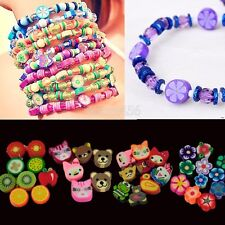 100 PCS Clay Beads DIY Slices Mixed Color Fimo Polymer Clay E456