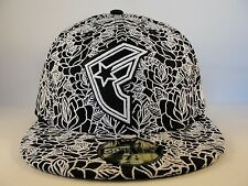 Famous Stars & Straps New Era 59FIFTY Fitted Hat Cap Delirious Black White