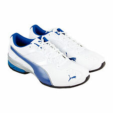 Puma Tazon 6 Fm Mens White Leather & Synthetic Athletic Training Shoes