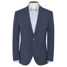 New Brook Taverner Beaver Stripe Jacket Blazer - Navy Stripe - Choose Size