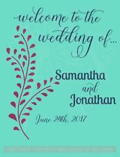 Welcome To The Wedding Of Personalized Wall Decals Vinyl Lettering Sticker Decor