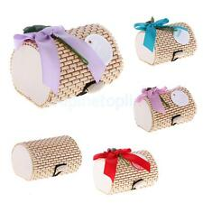 12x Bamboo Wooden Sweets Candy Boxes Jewelry Display Ring Necklace Storage Boxes