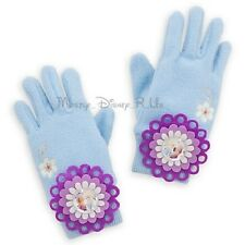 New Disney Store Frozen Elsa & Anna Knit Gloves Sparkly Costume Size XS/S M/L