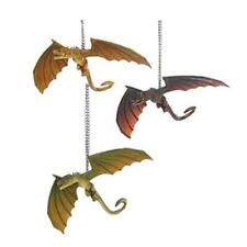 Game of Thrones Set of 3 Dragons 4-Inch Ornament  Drogon Viserion Rhaegal NEW