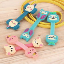 Headphone Earphone Earbud Silicone Cable Cord Wrap Winder Organizer Holder EM