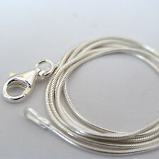 925 Sterling silver Plated Snake  Chain Necklace 2mm wide