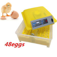 Fully Automatic Egg Incubator Turner 48 Eggs Poultry Chicken Duck Bird Hatcher