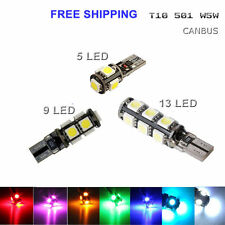 T10 LED WHITE CAR BULB ERROR FREE CANBUS 501 194 168 W5W 5SMD SIDE LIGHT LAMP