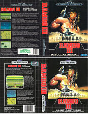 Rambo III 3 Sega Mega Drive Genesis PAL Replacement Box Art Case Insert Cover