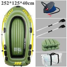 Inflatable Boat Fishing Raft 3 Person Boat 252*125*40cm PVC Kayak For Traveling