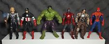 LOT Of 6 Marvel Avengers Figures Spiderman Iron Man Hulk Thor Cap Whiplash