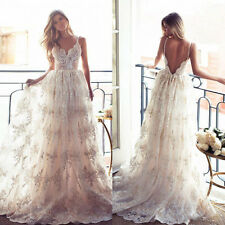 Spaghetti Beach Wedding Dresses Backless White Ivory Bridal Gowns Custom  2017