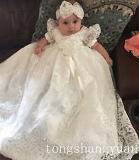 2017 New Beaded Baptism Gowns Lace White Ivory Christening Dresses Free Shipping