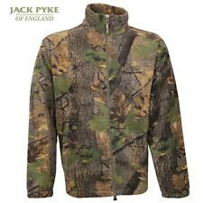 Jack Pyke Fieldman Fleece Jacket Shooting Hunting Fishing Oak Camo S-XXXL