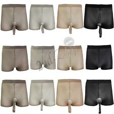 Mens Sheer See Through Thin Pantyhose Underwear Boxer Shorts Thongs Briefs Women