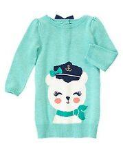 Gymboree Cape Cod Cutie 2014 Aqua Captain Cub Sweater Dress 2T 3T 5T NEW NWT