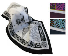 "Irish Silk Scarf 63"" Celtic Design from Ireland"