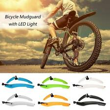 Bicycle Cycling Fenders Mountain Bike Front Rear Mud Guards Mudguard Tail Light