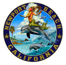Dolphin Surfing - Newport Beach T Shirt, Designed for us by Rick Rietveld