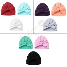 Set of 3 Newborn Baby Girls Infant Toddler Comfy Bowknot Hospital Cap Beanie Hat
