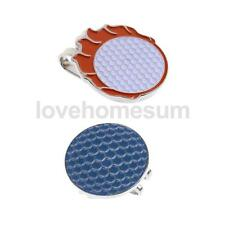 Sturdy Stylish Golf Pattern Hat Clip Golf Ball Marker Fit for Golf Cap Visor