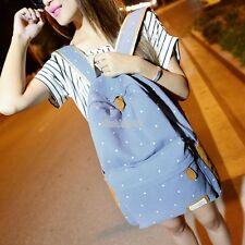 Fashion Women's Canvas Travel Satchel Shoulder Bag Backpack School Rucksack YU
