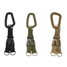 MOLLE Nylon Webbing Carabiner Keychain Quick Release Buckle Camping Tactical