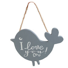 Vintage Wood Bird Wall Hanging Plaque Love Saying Sign Home Decoration Gift