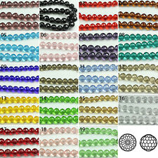 100/500pcs Transparent Synthetic Crystal Gemstone Round Faceted Bead 6 8mm