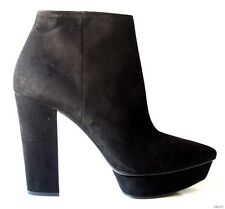 new $950 PRADA black suede PLATFORM high heel ANKLE boots shoes - SEXY