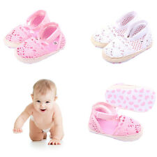 Baby girls Cotton Frework Bowknot Infant Sole Soft  First Walker Toddler Shoes
