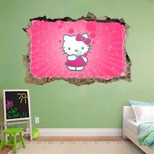 Hello Kitty Smashed Wall Decal Graphic Sticker Home Decor Art Mural J184