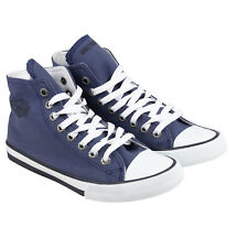 Harley-Davidson Patch Childrens Blue Canvas High Top Sneakers Shoes