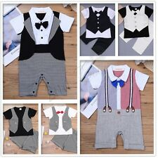 Baby Boys Romper Bodysuit Jumpsuit Clothes Outfits Wedding T-shirt Pants Newborn