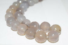 14mm Grey Round Facted Gemstone Agate Beads, grey agate,agategray agate beads