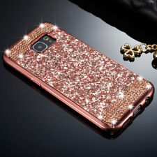 Luxury Slim Glitter Bling Diamond Soft TPU Back Case Cover For iPhone Samsung C