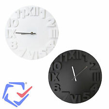 Large Wall Clock Modern in Two olors Platinet Wall Clock Designer Wall Plastic