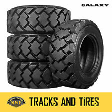 10-16.5 (10x16.5) Galaxy Hulk 10-Ply Skid Steer Tires: Pick Your Rim Color