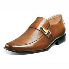 STACY ADAMS Mens Beau Dress Shoes Cognac slip on Leather 24692-221 Size 9.5M