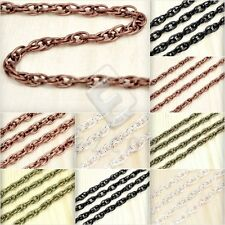 2/4M Iron Woven Curb Chain Unfinished Chains Necklace DIY 4.1x2.7/5.9x4mm