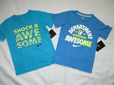 LOT of 2 NWT Nike Boy's AWESOME Shirt Short Sleeve Size 4