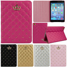 Folio Diamond Crown Smart Leather Case Stand Cover For iPad Air 1st Generation