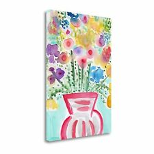 Tangletown Fine Art Red Vase Of Flowers' Graphic Art Print on Canvas
