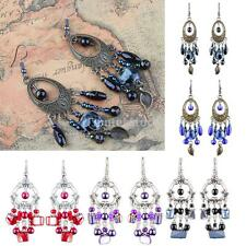 Handmade Long Tassel Drop Dangle Earrings Fashion Hollow Beads Ear Hook Jewelry