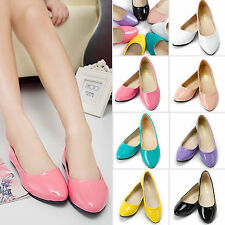 Summer Women Candy Colors Boat Shoes Ballet Leather Loafers Casual Slip On Flats